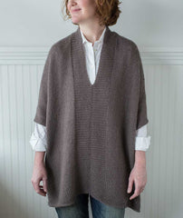 Modern Wrapper Tunic Using Rowan Kid Classic