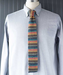 Knitted Necktie Using Regia 4-Ply Tweed Color