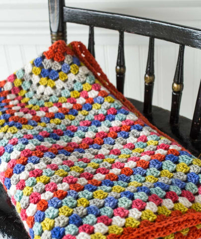 One Big Granny Square Throw - Manos Maxima Version