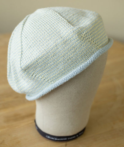 One-Round Striped Beret - Summerlite 4-ply Version