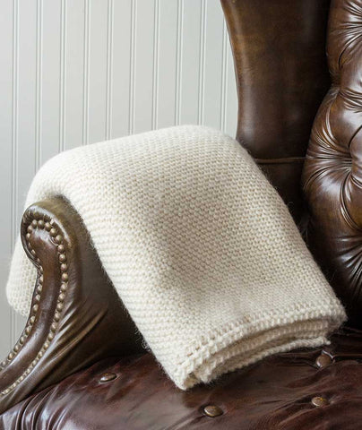 Picot-Edge Mohair Throw & Afghan - Berroco Ultra Alpaca Mist Version