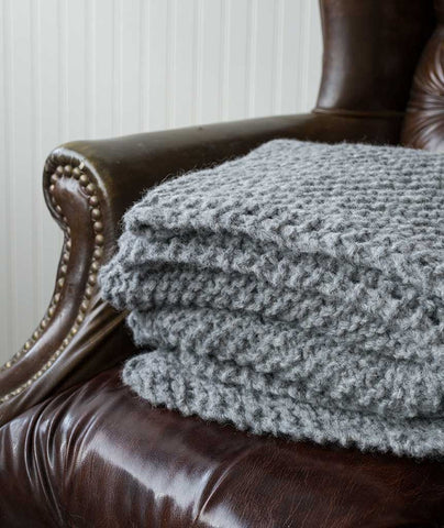 Picot-Edge Mohair Throw & Afghan Using Rowan Brushed Fleece