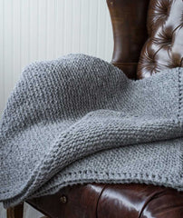 Picot-Edge Mohair Throw & Afghan - Brushed Fleece Version