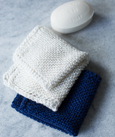 Picot-Edge Washcloth Using Hemp for Knitting allhemp6