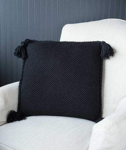 Diagonal Garter Stitch Pillow Cover Using Berroco Ultra Alpaca Chunky