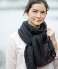 Polka Dot Scarf Using Rowan Kidsilk Haze
