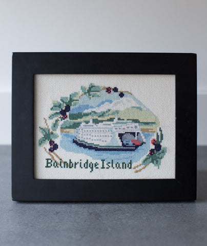 Bainbridge Island Ferry Counted Cross Stitch Kit