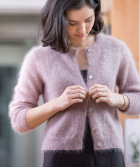 Quintessential Cardigan Using Rowan Kidsilk Haze