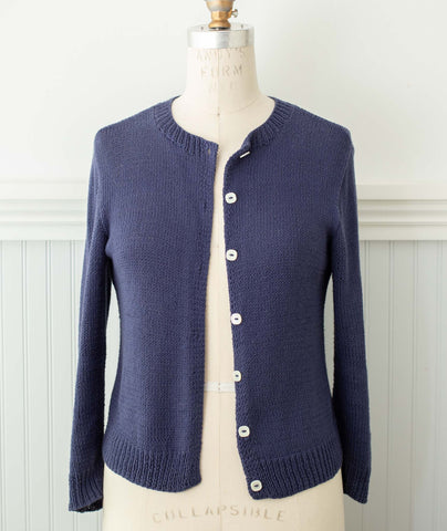 Quintessential Cardigan Using Berroco Modern Cotton DK