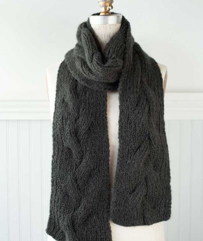 Reversible Cable Scarf Using Lang Luna