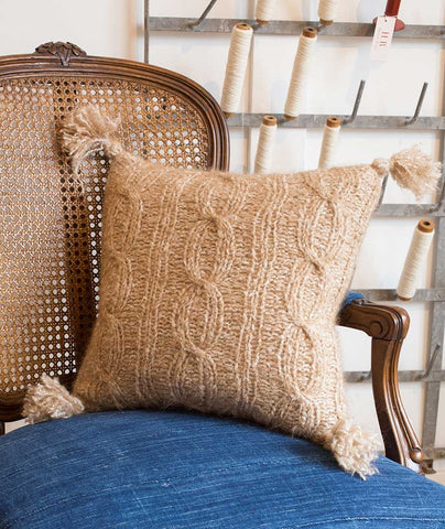 Ribbed Cable Pillow Cover - Lang Yara Version
