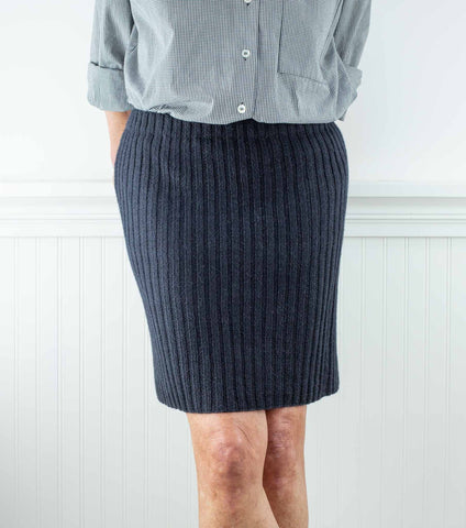 Ribbed Pencil Skirt Using Rowan Alpaca Soft DK