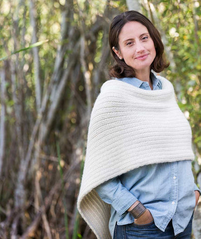 Twice Reversible Poncho - Ultra Alpaca Chunky Version