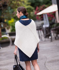 Twice Reversible Ribbed Poncho Pattern