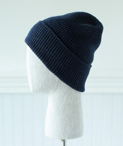 Ribbed Watch Cap Using Brooklyn Tweed Peerie
