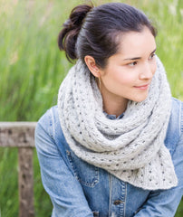 Ribbed Lace Scarf Using Rowan Cocoon