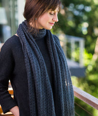 Ribbed Lace Scarf Using Shibui Silk Cloud