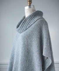 Wold Poncho Using Rowan Valley Tweed