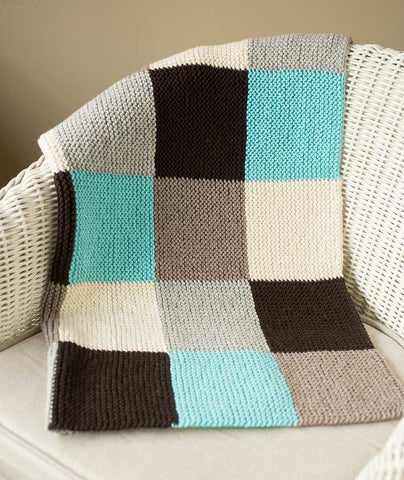 Garter Blocks Baby Blanket: Spud & Chloe Sweater Version