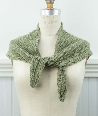 Seashore Scarf Using Rowan Cotton Cashmere