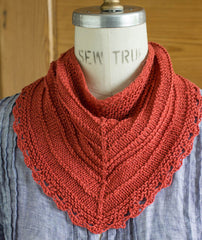Seashore Kerchief & Scarf Using Hemp for Knitting allhemp6