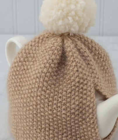 Seed Stitch Pompom Tea Cozy Using Rowan Kid Classic