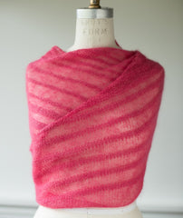 Ossa Shawl Using Shibui Silk Cloud/Pebble