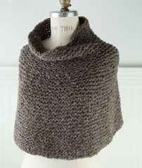 Shoulder Cozy with Cowl Using Rowan Brushed Fleece