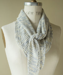 Simple Sideways Triangle Scarf - Silk Purse Version