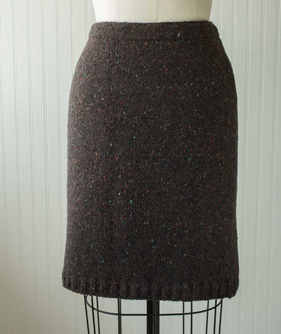 Simple Straight Skirt - Donegal Tweed Version