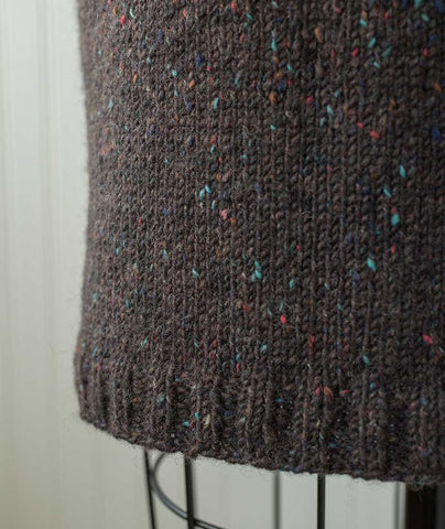 Simple Straight Skirt Using Tahki Donegal Tweed