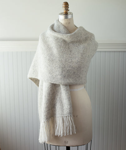 Simple Stockinette Wrap Using Rowan Alpaca Classic