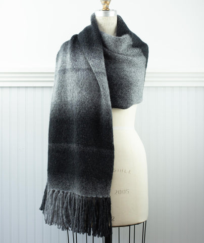 Simple Stockinette Wrap Using Rowan Brushed Fleece Degrade