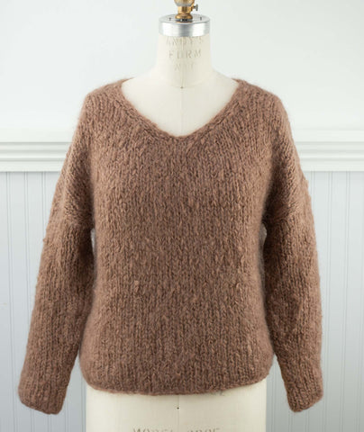 Slouchy Pullover Using Loopy Mango Mohair So Soft