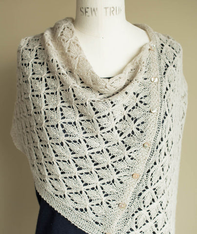 Smocked Lace Wrap Using Shibui Pebble