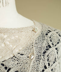 Smocked Lace Wrap - Shibui Pebble Version