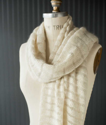 Spectrum Scarf & Wrap Using Shibui Silk Cloud/Rain