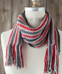 Striped Linen Stitch Scarf Using Brooklyn Tweed Arbor