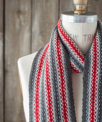 Striped Linen Stitch Scarf