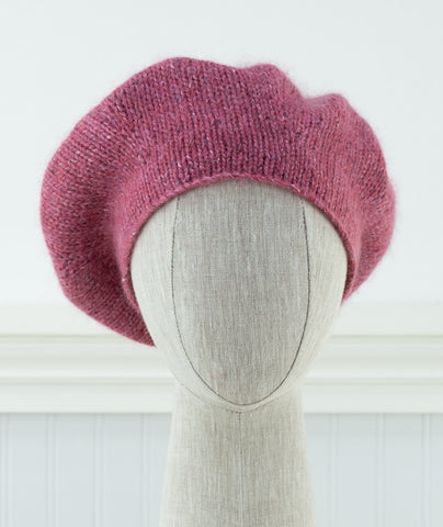 Studio Beret Using Rowan Felted Tweed & Kidsilk Haze