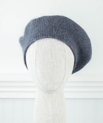 Studio Beret Using Rowan Felted Tweed Aran & Kidsilk Haze