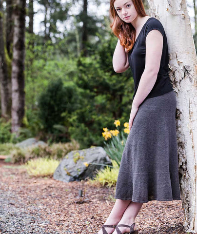 Swingy Linen Skirt Using Louet Euroflax