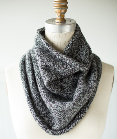Tapered Cowl Using Woolfolk Sno