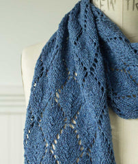 Tea Leaf Lace Scarf – Lang Seta Tweed Version