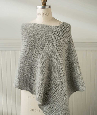 Twice Reversible Poncho Using Brooklyn Tweed Loft & Shibui Silk Cloud