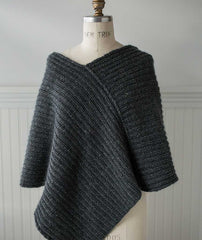 Twice Reversible Poncho Using Brooklyn Tweed Shelter & Shibui Silk Cloud