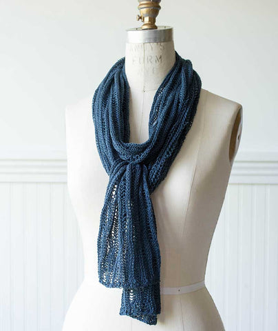 Vertical Drop Stitch Scarf - Louet Euroflax Version
