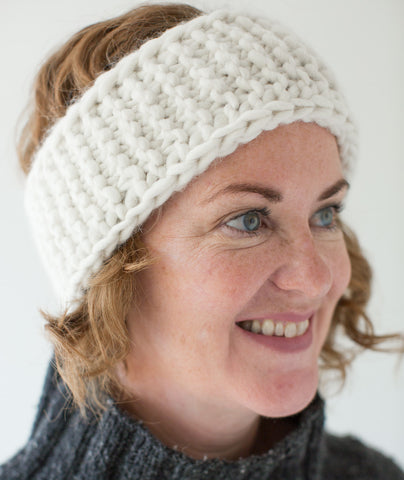 Very Warm Headband Using Blue Sky Bulky Churchmouse