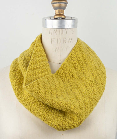 Walking Rib Cowl Using Blue Sky Fibers Eco-Cashmere