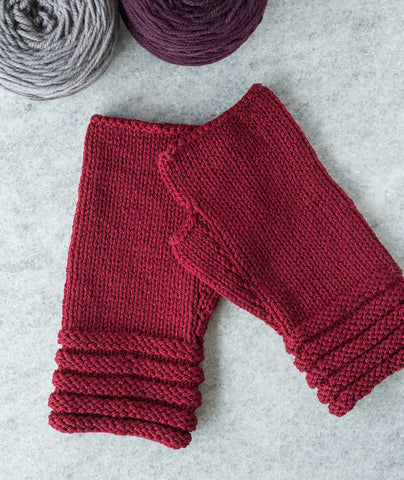 Welted Fingerless Gloves Using Brooklyn Tweed Arbor